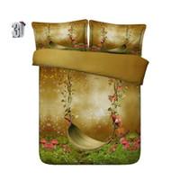 Wholesale swings sets for sale - Group buy 150x200CM D Mushroom Swing Print Bedding Duvet Cover Set with pillowcase Microfiber Comforter Cover Zipper Closure