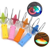cayro tops toptan satış-Yanıp sönen Led fidget spinner Üst Manyetik Gyro Tekerlek Parça Oyuncak Sihirli Fantezi Lazer Işık Gyro Bauble Renkli Parlaklık Plastik Çocuk oyuncakları Hediye