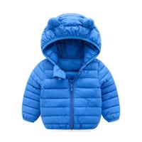 7cbec2e67fd4 black hoodie ears UK - good quality Chlidren doudoune Down jacket Boys Girl  Winter Coats Jacket