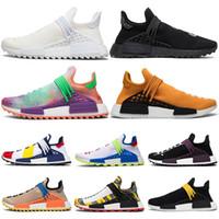 7294c241c Human Race PW Running Shoes Pharrell Williams Hu Trail Nerd Solar Pack Holi  Festival BBC designer Mens Women Trainer Sports Sneakers 36-47