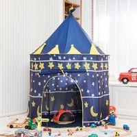 ev prensesi kale toptan satış-Prenses Kale Oyun Evi Taşınabilir Bebek Erkek Kız Oyuncak Çadır Katlanabilir çocuk Küçük Ev Top Bilardo Oyunu Çadır Çocuklar Plaj Çadır