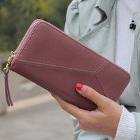 ingrosso pop verde del telefono-1 portafoglio da donna borsa da donna lunga capacità geometrica polsino monete portamonete borsa da portafoglio marca pop moda frizione telefono