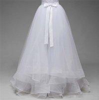 organza yay düğün tren toptan satış-2019 Line Gelinlik Overskirt Ayrılabilir Tren Tül Organze Saten Kanat Bow Ücretsiz Boyut vestido de novia