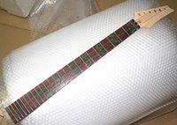 pescoços de guitarra verde venda por atacado-árvore verde bela 24 Frets bordo Electric Guitar Neck rosewood embutimento de madeira vida guitarra cor acessórios peças