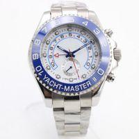 modèle homme chaud achat en gros de-8 couleurs chaudes Rolix hommes de montres de luxe 44mm montres automatique en acier inoxydable mécanique RLX 116680 modèle YM2 18K 54
