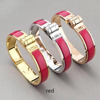 Wholesale bracelet h for sale - Group buy high quality titanium bracelet bracelets K H black gray orange golden horseshoe buckle bracelet