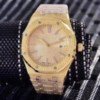 королевский черный бриллиант оптовых-16 цвет Алмаз автоматический Королевский матовый черный циферблат дуб мужские 18k золотые часы серебристо-тон руки фиксированной рамкой 42 мм размер glide мужские часы
