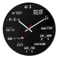 restaurar negro al por mayor-Número Circular Reloj de pared blanco y negro Woody que restaura las maneras antiguas Dormitorio Sala de estar Simple Decorar Relojes de pared 25nsD1
