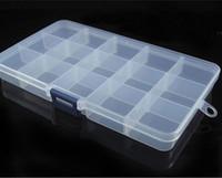 fliegenfischen werkzeug zubehör großhandel-HENGJIA neue 15 Fächer Aufbewahrungskoffer Fliegenfischenköder Löffelhaken Köder Tackle Case Box Angeln Zubehör Werkzeug