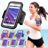 brazaletes de telefono movil al por mayor-Funda para brazalete Sport Gym para correr, para correr, banda para el brazo, cubierta para el cinturón del teléfono móvil
