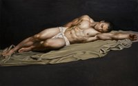 nackter kunstmann großhandel-Hochwertige handbemalte HD Print Figur Portrait Kunst Ölgemälde nackte Männer auf Leinwand Wandkunst Home Deco P41