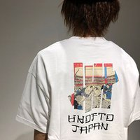 ingrosso stampe limitate-T-shirt imbattuto Japan Limited UKIYOE SUMO Tee Uomo Donna manica corta Lettera Stampa Camicia in cotone Top Marca Top CPI0311