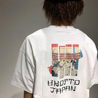 kurzes hemd frauen japan großhandel-Undefeated T-shirt Japan Begrenzte UKIYOE SUMO T Männer Frauen Kurzarm Brief Drucken Baumwollhemd Top Qualität Marke Tops CPI0311