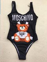 piezas de maillot sexy al por mayor-MOSC Small Bear One Piece Brand Designer Swimwear Bikini para mujer Fashion Letter GG Swimsuit Bandage Sexy Bathing Suit Maillot De Bain