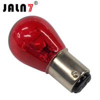 lâmpadas carro p21w venda por atacado-S25 Vermelho 10 PCS BA15D BA1515 BA15S BAU15S 1156 1157 P21 / 5 W P21W PY21W 12 V Clara Lâmpada de Vidro Cauda de freio Lâmpada de Parada Do Carro