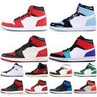ingrosso couture di scarpe-1s Mid OG 1 top 3 Spider-Man Uomo Scarpe da pallacanestro Omaggio a casa vietato Bred Toe Chicago Blu royal UNC Couture Uomo Sport Designer Sneakers