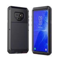 galaksi s5 goril camı toptan satış-Samsung Galaxy S3 için S4 S5 S6 S7 Kenar Not 4 5 Darbeye Su Geçirmez Güç Alüminyum Gorilla Glass Telefon Kapak Koruyun 1 adet