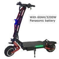 ingrosso motociclette elettriche scooter-Super potente Electrique Dirt Bike Trottinette 3200W Pieghevole Scooter elettrico Grande prestazione pieghevole doppio motore fuori scooter fino a 180KM