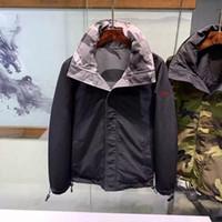 veste d'hiver de mode asiatique achat en gros de-Mens Designer Veste Manteau De Mode De Luxe Hommes Streetwear Vestes D'hiver Hommes Marque Veste Porter Des Deux Côtés Coupe-Vent Vêtements Asiatique Taille
