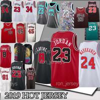 erwachsene tops großhandel-Chicago 23 MJ Basketball Trikots NCAA Michael 24 Markkanen 8 LaVine Wendell 34 Carter Jr. Trikot Adult TOP Qualität