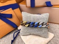 farbige ketten für schmuck großhandel-2019 Neueste Start Französisch Masters Luxuxmänner Armbänder Kettenglieder entworfen PATCHES Farbige Armband Halskette Schmuck