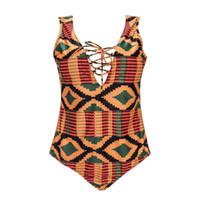 trajes de baño de estilo étnico al por mayor-Bikini para mujer Estilo europeo sexy Estilo étnico Playa Traje de baño Mujer gorda Talla grande Traje de baño sexy