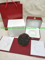 bolsos azules rojos al por mayor-Envío libre Reloj rojo Caja original Papeles Tarjeta Monedero Cajas de regalo Bolso azul Globo uso reloj