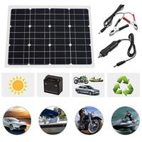 bateria solar monocristalina venda por atacado-Grampos Monocrystalline extremamente flexíveis da bateria da carga do painel solar de 40W watts para a fonte de alimentação USB do carro do barco