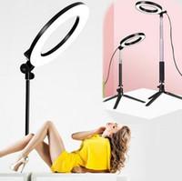 beleuchtung für foto großhandel-LED-Ringlicht 3 Modi 5500K Lampe Fotografie Kamera Fotostudio Telefon Video