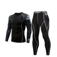 ingrosso collant-Nuovo spot sport Collant uomo Abito A Maniche di sport degli uomini fitness t-shirt ad asciugatura rapida Super Elastic Boxing PRO Suits