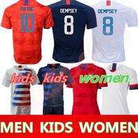 86214d55415 2019 America girl Soccer Jersey United States home away Shirt USA MEN KIDS  LLOYD RIPINOE KRIEGER Football Uniform Female 19 20