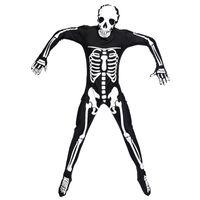 costumes effrayants pour hommes achat en gros de-Halloween Party Costume Homme Adulte Crâne Effrayant Squelette Costumes Combinaison Longue Zentai Costume pour Hommes