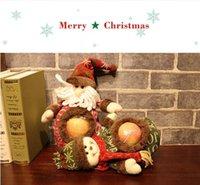 şeker kavanozu dekorasyonu toptan satış-Noel elma çantası şeker kavanoz hediye çanta santa kardan adam noel dekorasyon çanta Çocuk Tatil Hediyeler Şeker Çantalar MMA715