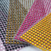 Wholesale acrylic sheet art resale online - hinestones flatback sheet mm Acrylic Self Adhesive Rhinestone Flatback Stickers DIY Decal Mobile PC Art Bling Scrapbooking Wall S