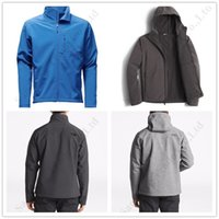 ingrosso giacche apex-Mens Fleece Hooded Apex Bionic Nord Giacche NF Soft Shell a maniche lunghe Windbreaker Moda esterna impermeabile Arrampicata faccia Outwear C112204