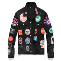 chaquetas vintage para la venta al por mayor-2019 carta de graffiti nylon ligero chaqueta rompevientos chaqueta de hombre caliente de la venta de la capilla y cremallera de nylon Wear escarabajos de estiércol Top