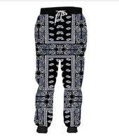 emoji schweißhose großhandel-Release Emoji 3D Schwarz Bandana Paisly Printed Jogger Hosen Lässige Jogginghose Cashew Blume Sweat Hosen Männer Runner Lange Hosen 5XL RCL04