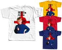 calças vermelhas camisas amarelas venda por atacado-Sozinho em casa V5, poster do filme, 1990, Natal T-SHIRT DTG (BRANCO AMARELO) S-5XL branco preto cinza calças vermelhas tshirt