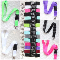 Wholesale lanyard necklace key chains for sale - Group buy Pink Grey lanyard Clothes CellPhone Lanyards Key Chain Necklace Work ID card Neck Fashion Strap Custom Logo Black For Phone Colors