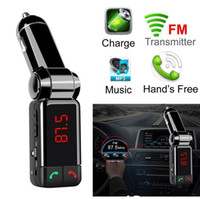 BC06 Bluetooth Car Kit Bluetooth Wireless FM Transmitter MP3 Player Handsfree USB charger with double USB charging 5V 2A LCD U disk Player