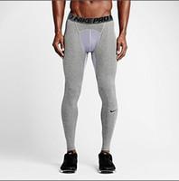 sıcak seksi spor kıyafeti toptan satış-Marka Yüksek elastikiyet Tayt Erkekler Sıcak Seksi Spor Sıkıştırma Spor Tayt Pantolon Koşu Spor Spor Pantolon Tayt Koşu Pan bvn