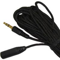 longo, computador, cabos venda por atacado-Estéreo de 3.5mm Audio fone de ouvido cabo de extensão de 5m / 3m / 1,5m Ultra Long para headphone computador celular MP3 / 4