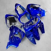 blau 1998 zx9r großhandel-23colors + Botls blue motorrad Verkleidung für Kawasaki ZX9R 1998-1999 ZX-9R 98 99 ABS Motorradkappe