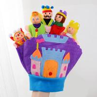 кукольные куклы оптовых-Животное рука кукольный характер перчатки воспитание раннего образования рассказывание историй реквизит палец игрушки семейный замок дети куклы дети 17sw O1