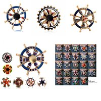 Wholesale toy gears resale online - The Avengers Newest Double Bearing Fidget Spinner Pirate Sailor Ship Wheel Gear Fingertip Gyro Fidget Hand Spinner Desk EDC Toy Spinner
