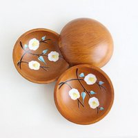 Wholesale peach fruit decorations resale online - Creative round peach fruit plate antique old wooden plate candy melon snacks wooden bowl creative fashion home decoration