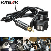 Freeshipping Motorcycle GPS Mobile Phone Dual USB Power Supply Port Socket Car Charger Charging For BMW With EU Plug 1.8M Cable Black