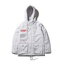Wholesale pilot jackets for sale - New NASA Flight Pilot Mens Designer Jackets Bomber Ma1 Bomber Jacket Windbreaker Military Section Mens Jacket Baseball Coats M XXL