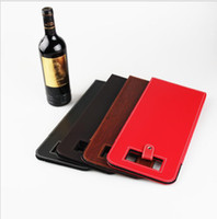 вина оптовых-4 цвета Роскошный портативный искусственная кожа двойной красное вино бутылка сумка упаковка чехол подарочные коробки для хранения с ручкой