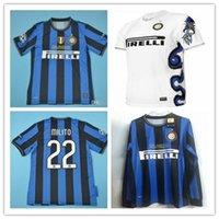 vintage j toptan satış-09 10 Inter Retro Futbol forması Milito J. Zanetti 2009 2010 Sneijder Milano Klasik MAGLIA Calcio Maillot Eski Camiseta de futbol forması
